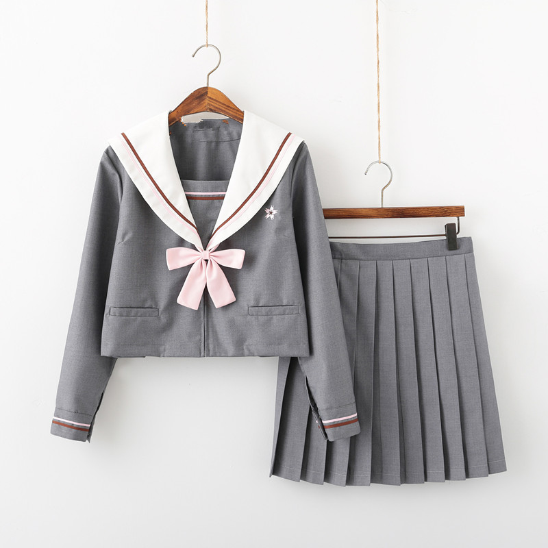 Sweety Japanese School Uniforms For Girls Sailor Suits Cute Short Pleated Skirt Full Sets Cosplay JK Costume Series