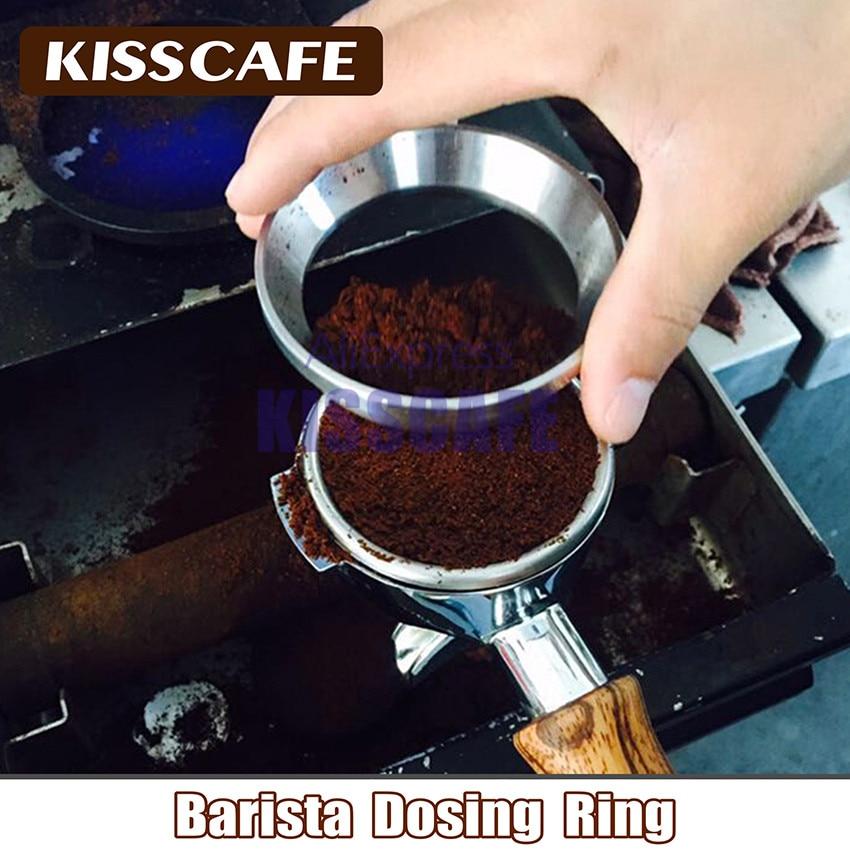 51/53/57.5/58/58.35mm נירוסטה אינטליגנטי מינון טבעת מתבשל קערת קפה אבקת עבור אספרסו ריסטה משפך Portafilter
