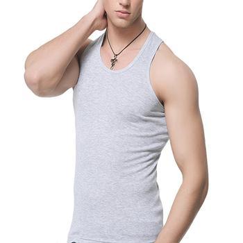 Oversized Men Summer Solid Color Breathable Soft Tank Tops Casual Slim Homme Sleeveless Black White O-neck Vest Tops 4