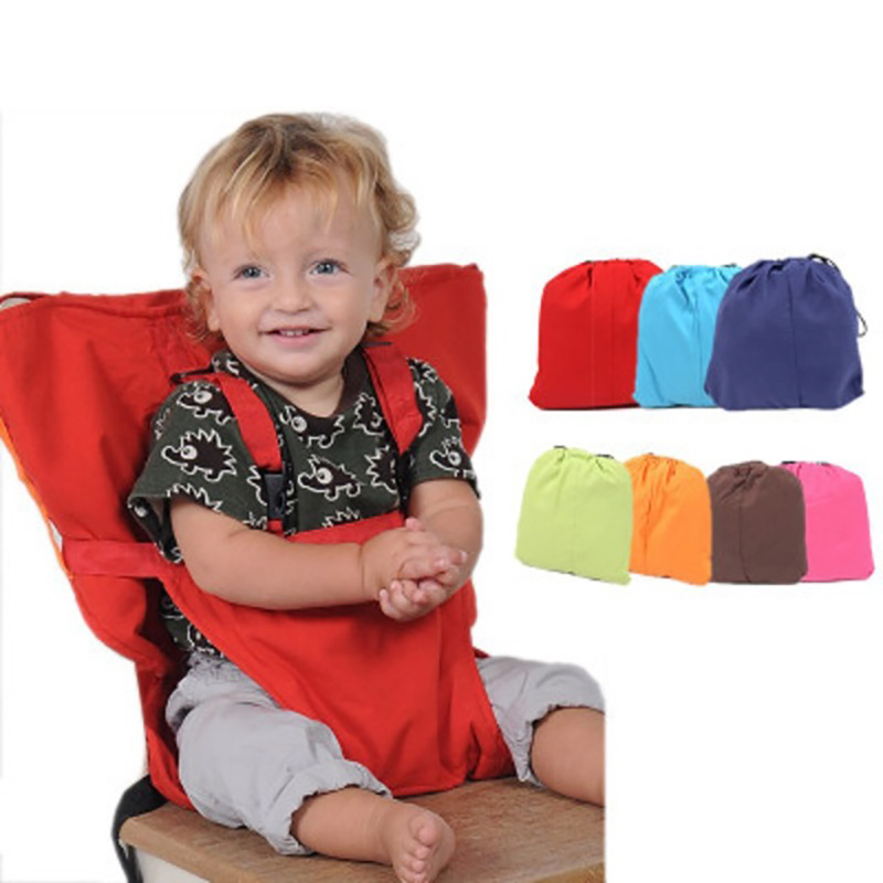 Baby Chair Portable Washable Infant Dining High Dinning Cover Seat Safety Belt Feeding High Chair Travel Foldable Baby Seats