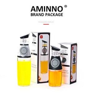 Image 5 - AMINNO Dispensador de aceite de oliva y conjunto de pulverización de bomba Spray de alimentos Botella de vidrio saludable Rociador de barbacoa Bomba de acción Acción señor de alimentos