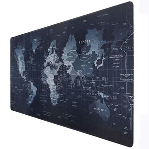Gaming Computer Mouse Pad Large World Map Mouse Mat Big Desk Mat Non-Slip Rubber Base Mousepad for Laptop PC Game Waterproof(China)