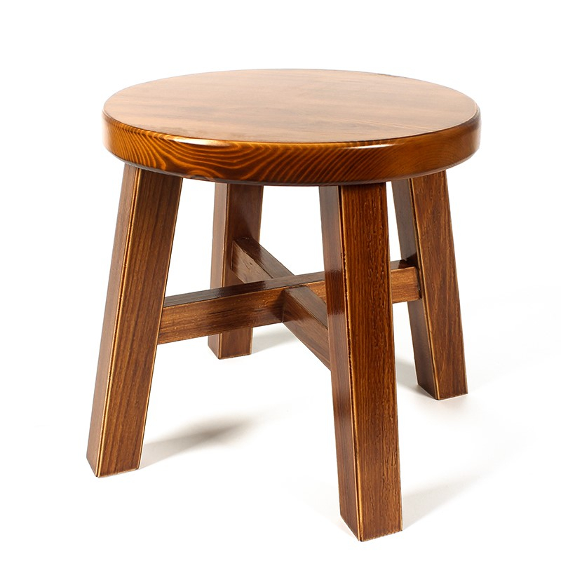 Living Room Home Stool Creative Solid Wood Adult Small Bench Fashion Simple Modern Wood Stool