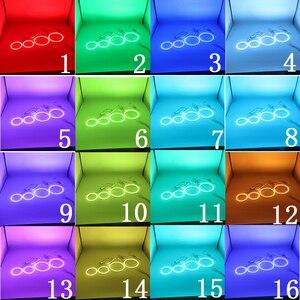 Image 5 - האחרון פנס רב צבע RGB LED אנג ל עיני Halo טבעת עין DRL RF שלט רחוק עבור פורד מונדיאו MK3 2001 2007 אביזרים