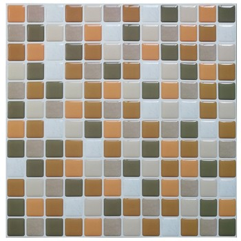 Mosaic Wall Tile Peel and Stick  Self adhesive Backsplash DIY Kitchen Bathroom Home Wall Sticker Vinyl 3D 9