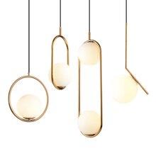Lámpara colgante nórdica de cristal con bola de suspensión, decoración de loft, para sala de estar, dormitorio, cocina, accesorios de luz led