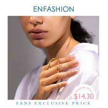 ENFASHION Irregular Creative Ring Female Gold Color Finger Rings For Women Minimalist Fashion Jewelry Gifts Dropshippping R4033