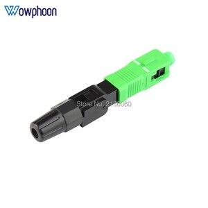 Image 4 - Kostenloser Versand SC APC Schnelle Stecker Embedded Stecker FTTH Werkzeug Kalten Faser Schnelle Stecker SC Fiber Optic Connector