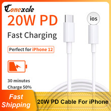 Conexcle 20W PD USB C Type C Cable for iPhone 12 11 Pro Xs Xr Max Fast Charging Cable for iPhone iPad Macbook USB Type C Cord