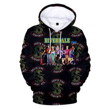 3D Printed Men Casual Hoodies Riverdale Hoodie Sweatshirt Men Women South Side Serpents Hoodies Hip Hop Pullovers Clothes(China)
