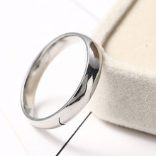 Stainless Steel Rings Silver Color Smooth Simple Statement Custom Wedding Couples Wedding Ring Woman Man Fashion Jewelry new