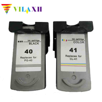 Vilaxh pg 40 cl 41 Ink Cartridge PG 40 CL 41 for Canon Pixma iP2500 iP2600 iP1800 iP1900 MP190 MP150 ip2200 MX310 MX300 ip1700