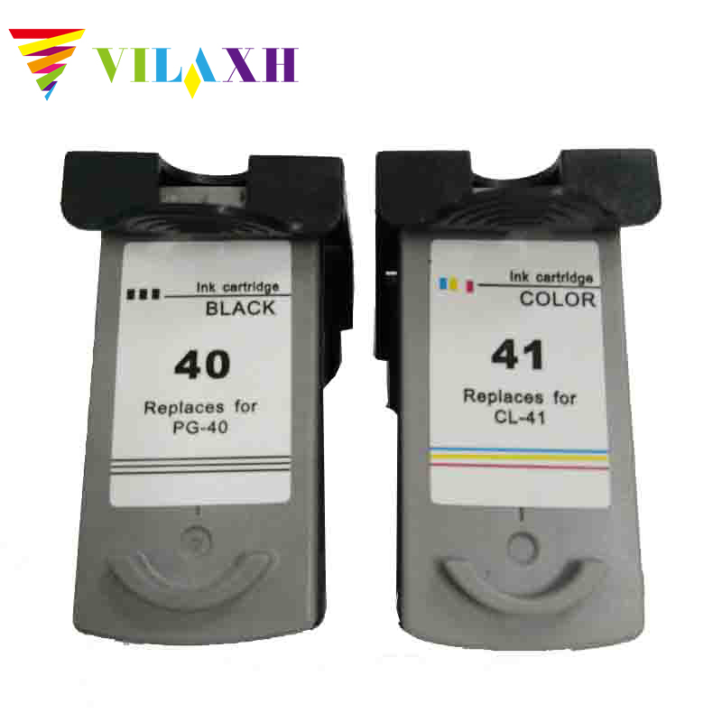 Vilaxh pg 40 cl 41 Ink Cartridge PG 40 CL 41 for Canon Pixma iP2500 iP2600 iP1800 iP1900 MP190 MP150 ip2200 MX310 MX300 ip1700