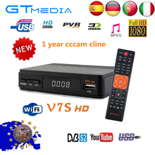 Satellite finder Full  HD DVB-S2 GTMEDIA V7S Receiver 1080P USB WiFi + 1 year Ccam server hd for all european