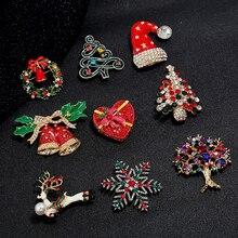 Элегантные портативные рождественские булавки венок дамские БРОШИ МНОГО формы брошь булавка
