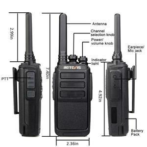 Image 2 - 10 ps retevis rt28 portátil walkie talkie vox mãos livres ctcss/dcs usb de carregamento frequência ultraelevada portátil rádio de 2 vias comunicador
