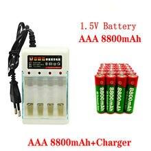 2021 nova marca 8800mah 1.5v aaa bateria alcalina aaa bateria recarregável para controle remoto brinquedo batery fumaça alarme com carregador