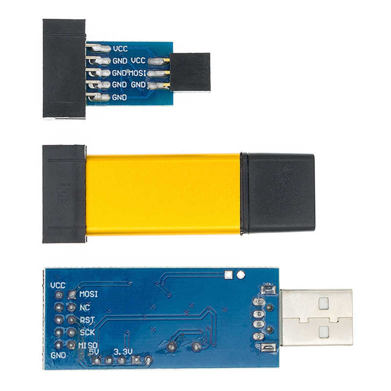 Программатор USB ISP USB ASP ATMEGA8 ATMEGA128 с поддержкой Win7 64K 10Pin на 6 Pin, 1 шт.