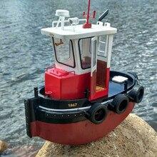 Мини-милая маленькая лодка с инфракрасным управлением, радиоуправляемая лодка, модель спасательного корабля, электрические игрушки на радиоуправлении, деревянный комплект для всего корабля, размер 22*10,5 см