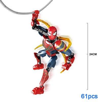 Una figura de súper héroe Miles Morales araña-jamón merodeador Spiderman sombra Gwen final de hierro hombre araña Juguetes de bloques de construcción