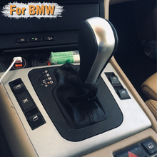 Leather Car Automatic Shift Gear Knob Lever knob For E39 E46 E53 E60 E61 E63 E64 E83 E81 E82 E87 E90 E91 E92 E93 Car Styling