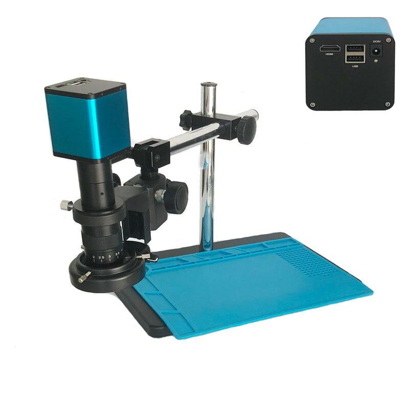 Autofocus SONY capteur IXM290 HDMI USB vidéo industrielle Auto Focus Microscope caméra + 180X 300X c-mount lentille + bras support