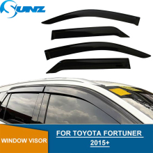 Car Window Visor For Toyota fortuner hilux sw4 2016-2017 Deflectors Guards For toyota fortuner hilux sw4  Vent Visor SUNZ chrome side door trim for toyota fortuner an160 hilux sw4 2015 2016 2017 car styling body cladding deflector accessories ycsunz