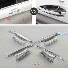 Lapetus Exterior Refit Kit Fit For Mercedes Benz GLA X156 200 220 2015   2019 ABS Chrome Door Pull Handle Grip + Bowl Cover Trim