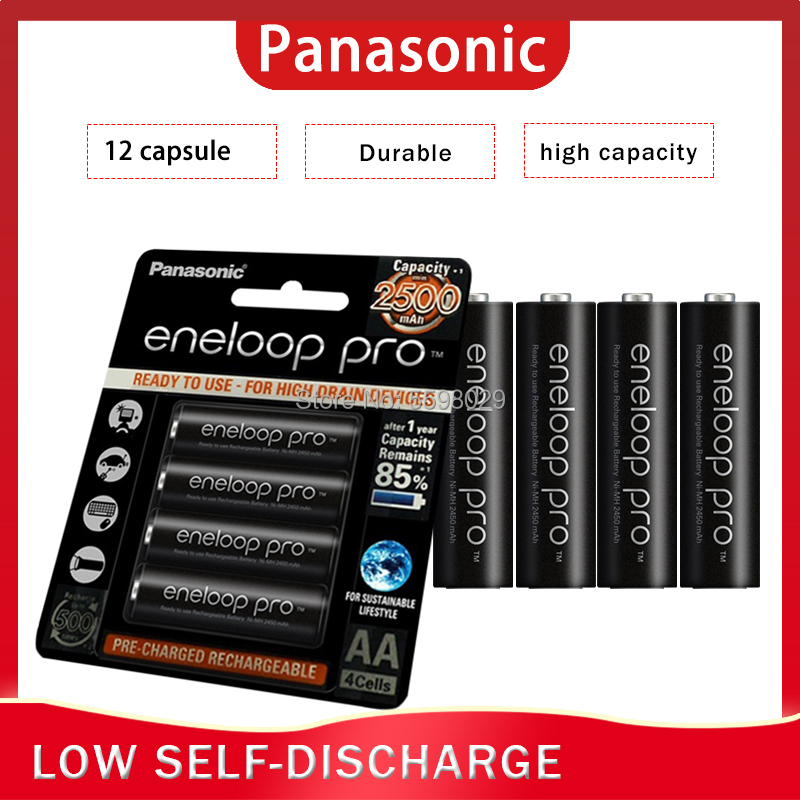 12PCS/LOT Panasonic Eneloop Original Rechargeable <font><b>Batteries</b></font> Pro <font><b>AA</b></font> 2500mAh <font><b>1.2V</b></font> <font><b>NI</b></font>-<font><b>MH</b></font> Camera Flashlight Toy Pre-Charged image