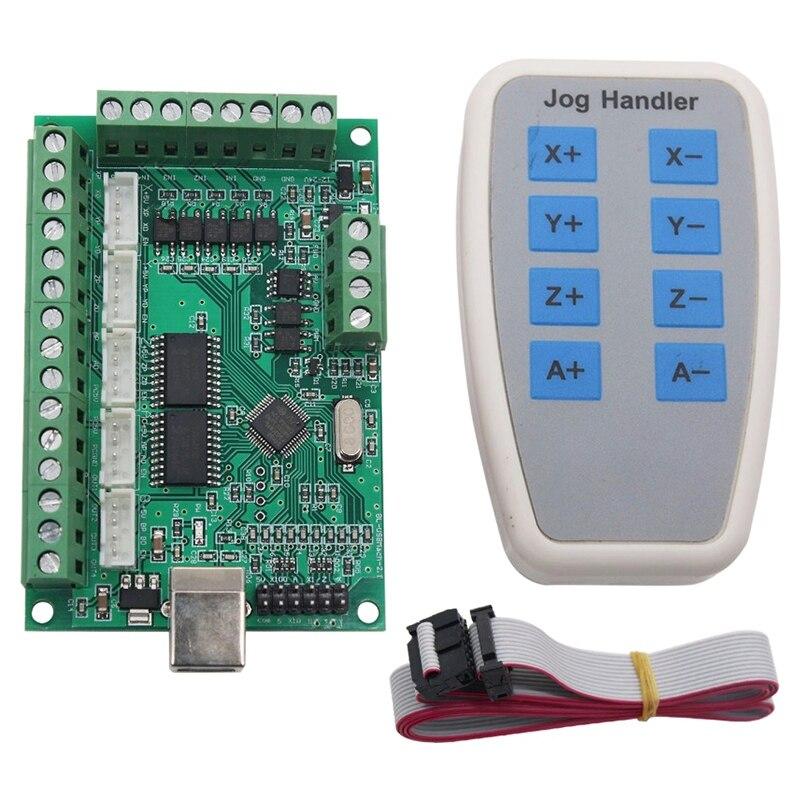 HHO 5 축 mach3 cnc 브레이크 아웃 보드 1000 khz usb cnc 모션 제어 카드 조각 기계-에서우드 라우터부터 도구 의