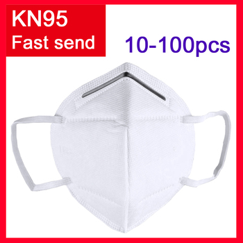10-100PCS KN95 mask Face Mask  KN95 Mouth Masks Anti-influenza Adaptable Against Pollution Breathable Mask filter PM2.5