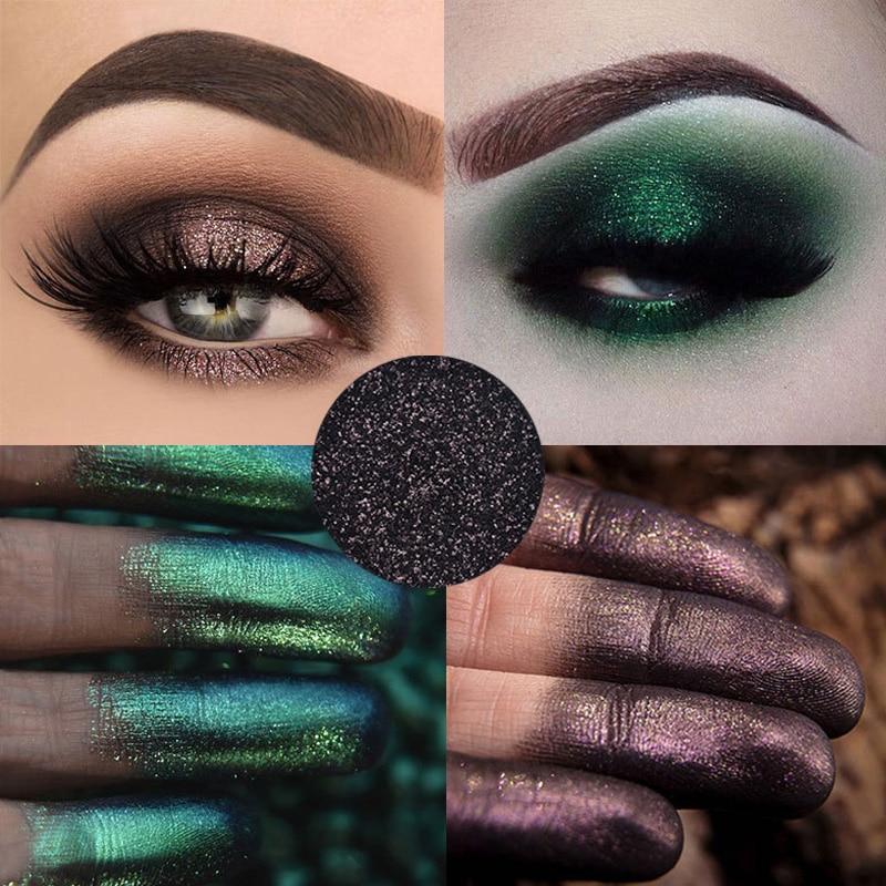 Hot Pigment Shiny Glitter Eyeshadow Powder Shimmering Colors Long lasting Eye Shadow Palette Metallic Eye Makeup Cosmetic TSLM2