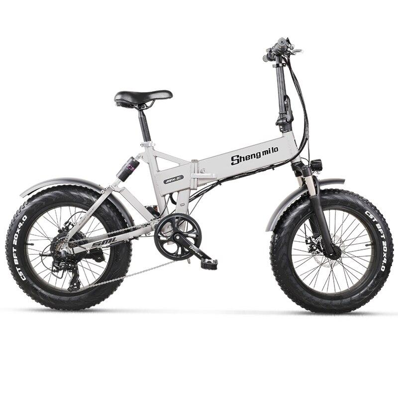 Electric Bike 500W City Bike Folding  Electric Bicycle Electric Mountain Bike 20 inch 4.0 Fat Tire ebike  48V Lithium Battery 6