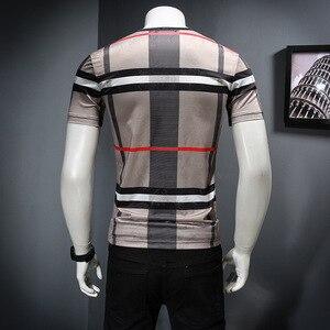 Image 5 - 2019 남자 셔츠 여름 짧은 소매 패션 라운드 칼라 t 셔츠 인쇄 통기성 남자 t 셔츠