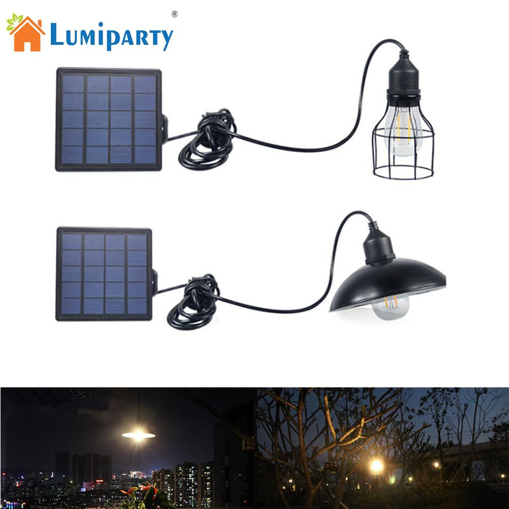 Retro LED Waterproof Solar Power Pendant Light Street Light For Outdoor Courtyard Garden Corridor With E27 Bulb Solar Lamp