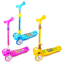 Wholesale Scooter Children 3 6 14 Year Old 2 Four Wheel Flash Boy Slippery Car Single Foot Baby Girls Luge
