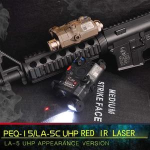 Image 5 - Wadsn uhpバージョンエアガンla 5 peq 15 レッドドットレーザーサイトled懐中電灯LA5 irレーザーpeq戦術softair狩猟武器ライト