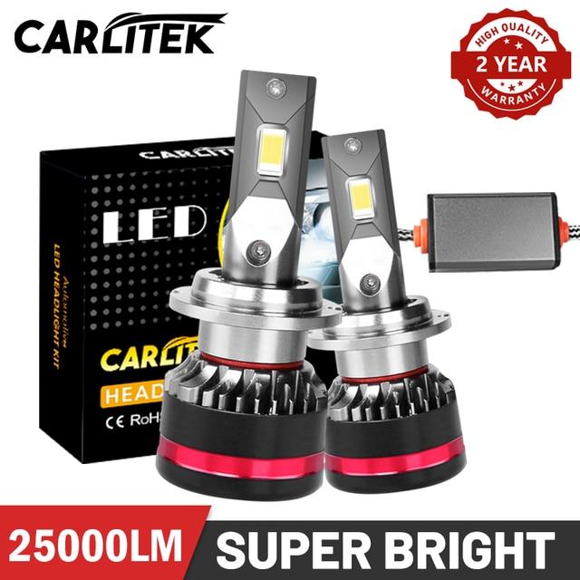 Carliteck d2s d4s led farol lâmpadas de alta potência h8 h9 h11 h7 lâmpadas no carro para auto hb4 9006 hb3 9005 iluminações 12v diodos