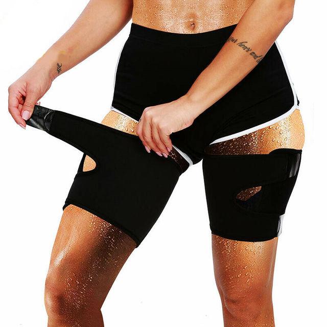 1 Pair Slimmer Legs Strap Belt Trimmer Sweat Band Leg Slimmer Weight Loss Neoprene Workout Corset Thigh Slimmer Tone Legs Strap 4