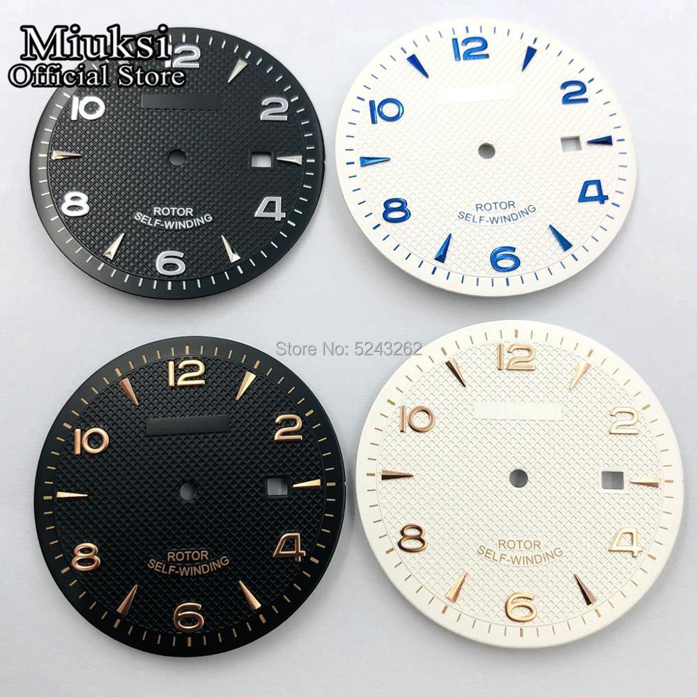 Miuksi 35.5mm Sterile Watch Dial Fit ETA 2836/2824,Miyota 8205/8215/821A/82series,Mingzhu DG 2813/3804 Movement Mens Watch Dial