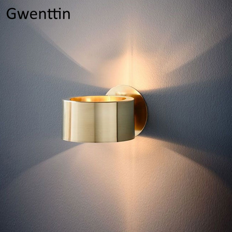 Modern Luxury Gold Wall Lamp Led Wall Sconce Light Fixtures Mirror Lights for Home Art Deco Loft Industrial Lamp Stair Luminaire-in LED Indoor Wall Lamps from Lights & Lighting