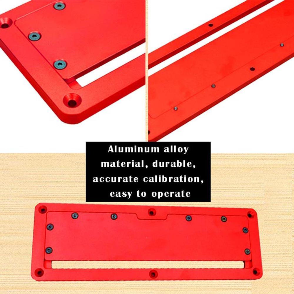 Alloet Adjustable Aluminum Alloy Electric Circular Saw Flip Cover Plate Flip-Floor Table Special Embedded Cover Plate