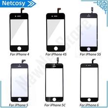 Dokunmatik Panel iPhone 6 5 5s 5c 4s 4 dokunmatik ekran Digitizer cam Lens sensörü yedek parçalar iPhone 5 5S 6 dokunmatik ekran