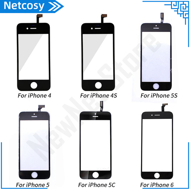 Touch Panel For iPhone 6 5 5s 5c 4s 4 Touch Screen Digitizer Glass Lens Sensor Replacement Parts For iPhone 5 5S 6 TouchScreen