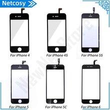 לוח מגע עבור iPhone 6 5 5S 5c 4S 4 מסך מגע Digitizer זכוכית עדשת חיישן החלפת חלקים עבור iPhone 5 5S 6 מסך מגע