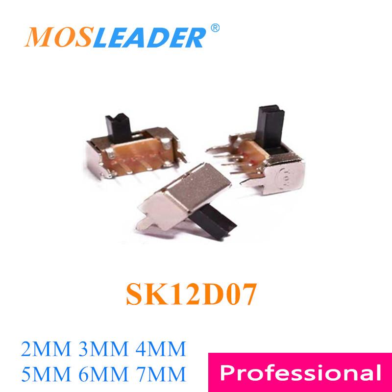 Mosleader 1000 шт SK12D07 DIP 3 P 5 P 3 Pin 5 Pin 2 T 2 путешествия SK12D07VG 2 мм 3 мм 4 мм 5 мм 6 мм 7 мм длина SK-12D07 переключатель боковой скольжения