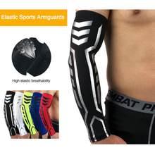 Esporte de basquete braço manga armguards secagem rápida uv protectin correndo cotovelo suporte braço fitness cotovelo almofada ciclismo esportes segurança