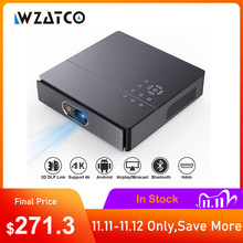 WZATCO S5 Portable MINI DLP 3D Projector 4K 5G WIFI Smart Android for Home Theater Beamer Full HD 1080P Video lAsEr Proyector