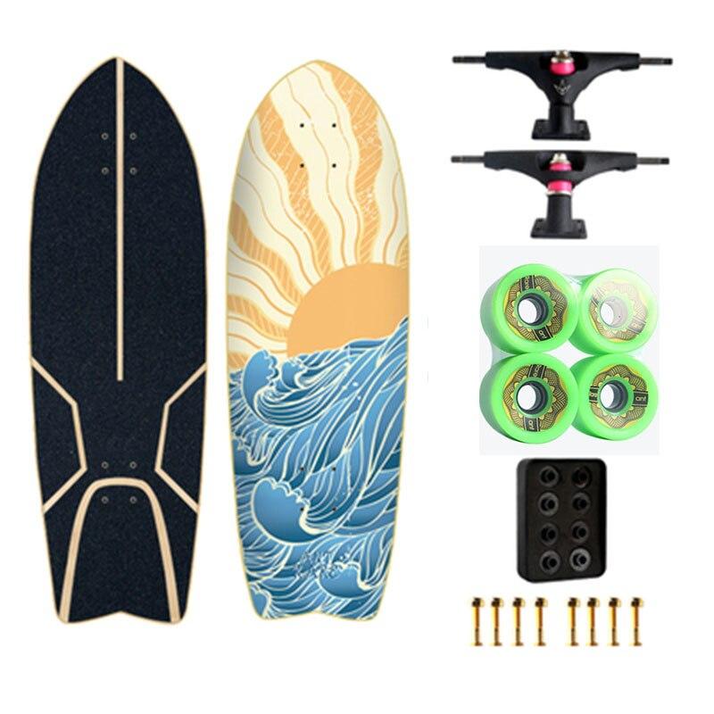 Land Carver 2 génération flambant neuf planche de Surf planche à roulettes direction nid gratuit ski Surf formation - 3