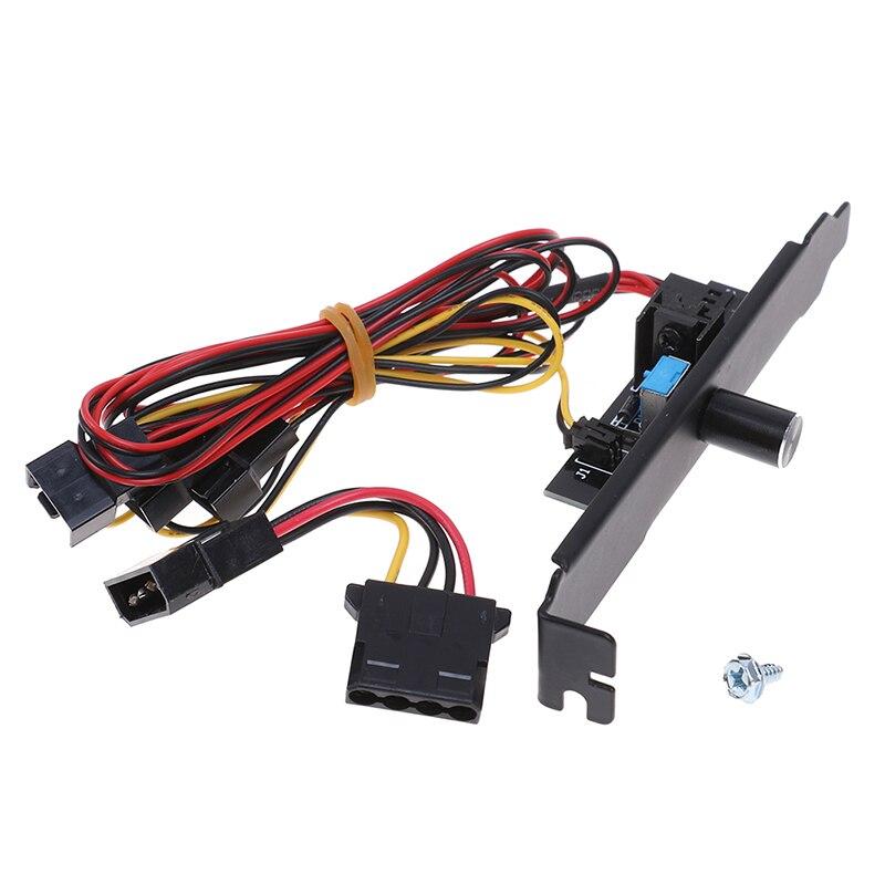 1pc 3 canais ventilador de refrigeração cooler controlador de velocidade para cpu caso hdd vga ventilador